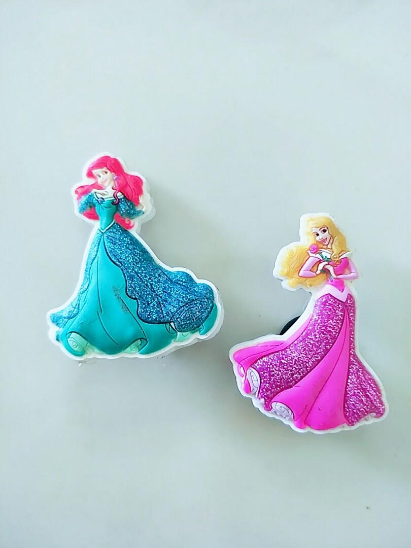 5dcdd0b1b8e Crocs Disney Princesses shoe buttons - Attic Storage