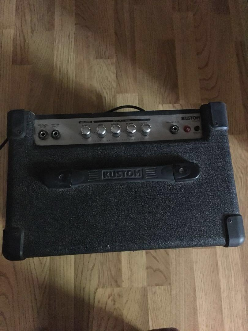 Electric bass guitar, case and amp *please read description*