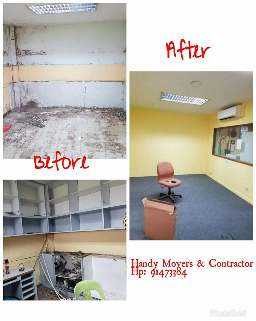 Hacking Cabinet Removals & Reinstatment