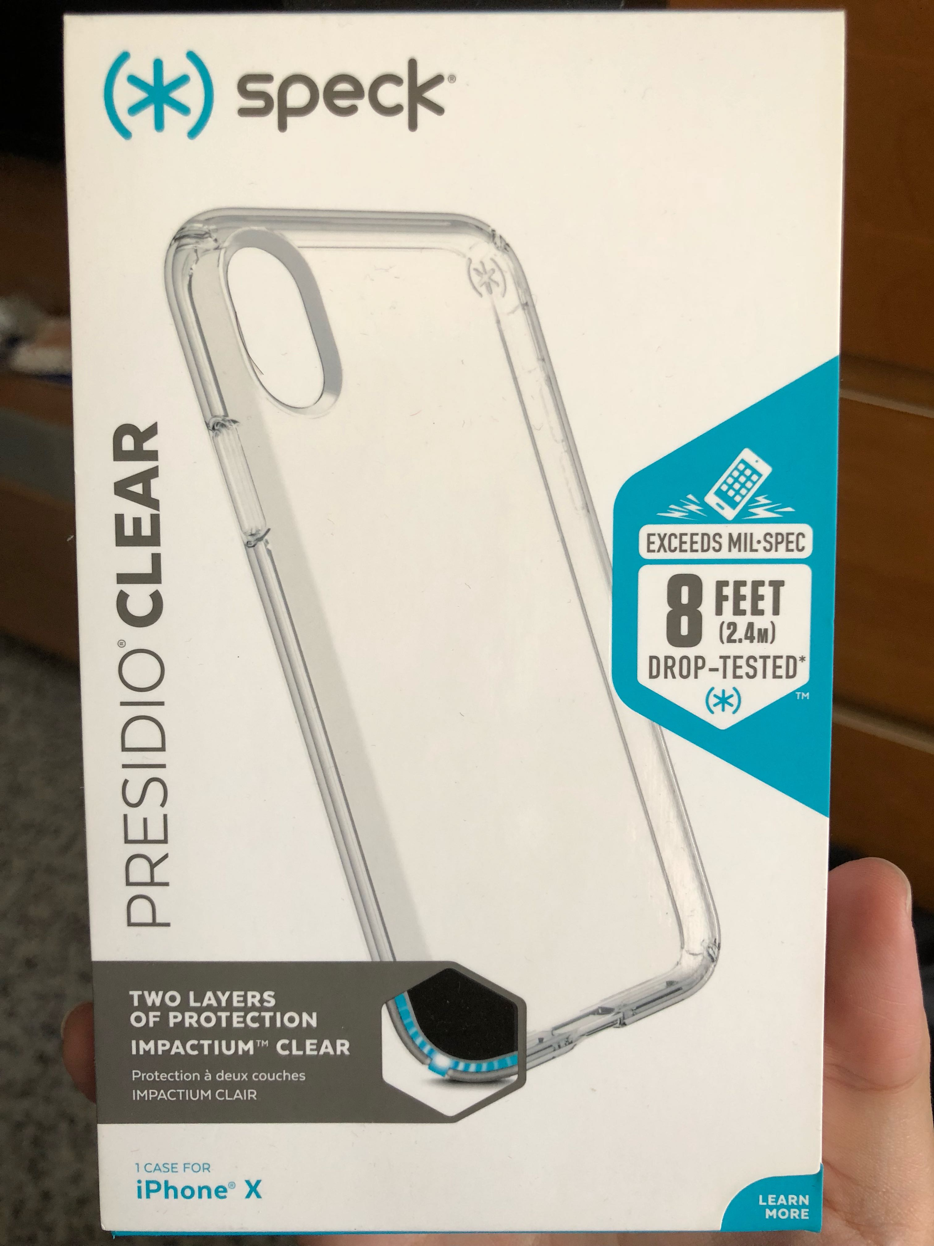 new style 702e9 6c905 iPhone X Speck Presidio Clear Casing