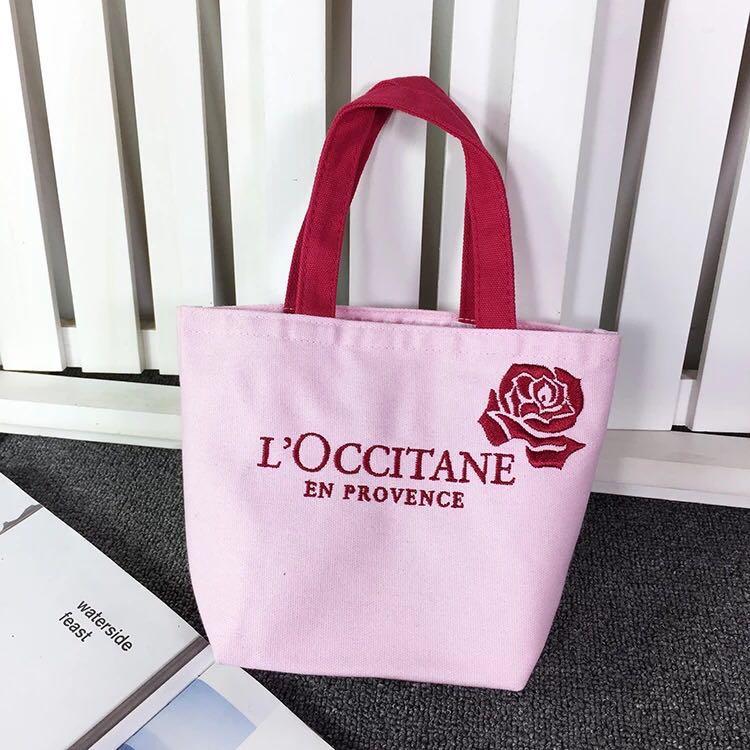 4e5b5047da Loccitane Small Canvas Flower Tote Bag