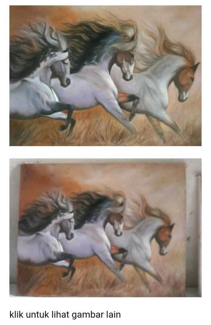 Lukisan tiga kuda
