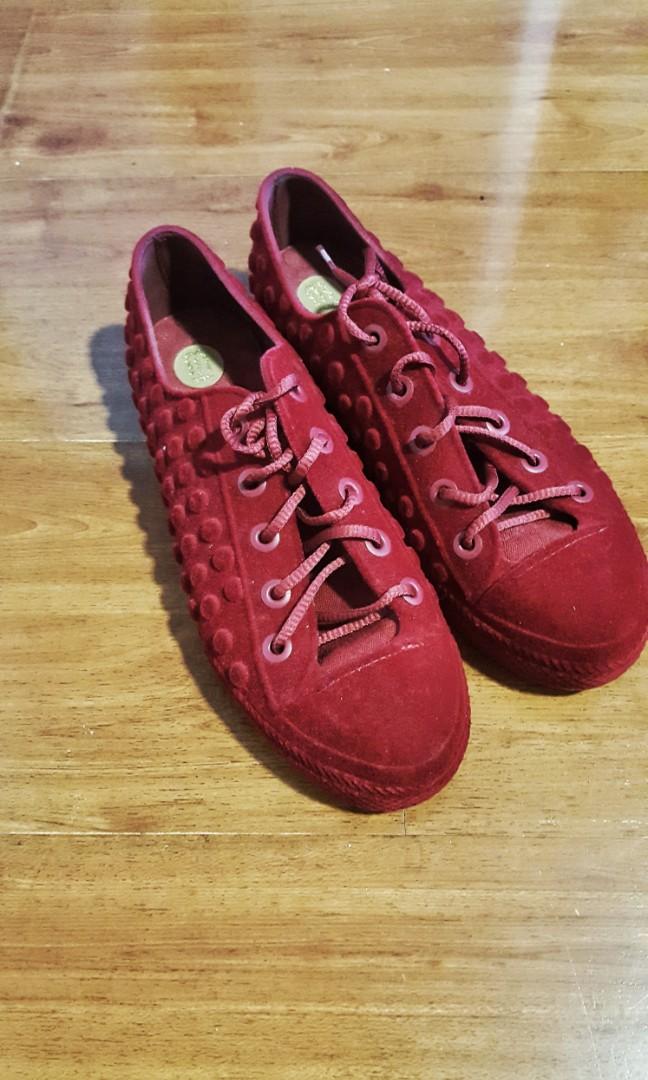 9164c66e4ea9 Melissa Red Velvet Sneakers