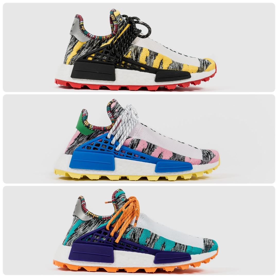 8da33606a80e4 Pharrell Williams x Adidas NMD Hu Trail Solar Pack (Human Race ...