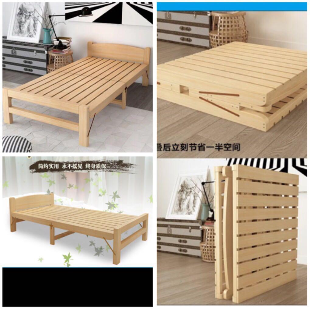 Preorder Foldable Bed Frame Foldable Wooden Bed Furniture Beds