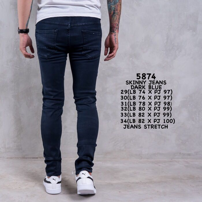 e7c98502 Restock Men Skinny Jeans Navy, Men's Fashion, Clothes, Bottoms on ...