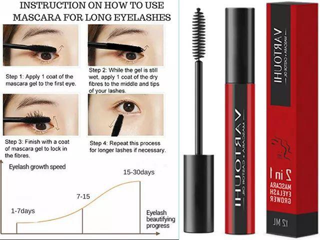 Vartouhi 2 In 1 Mascara Eyelash Grower Health Beauty Makeup On