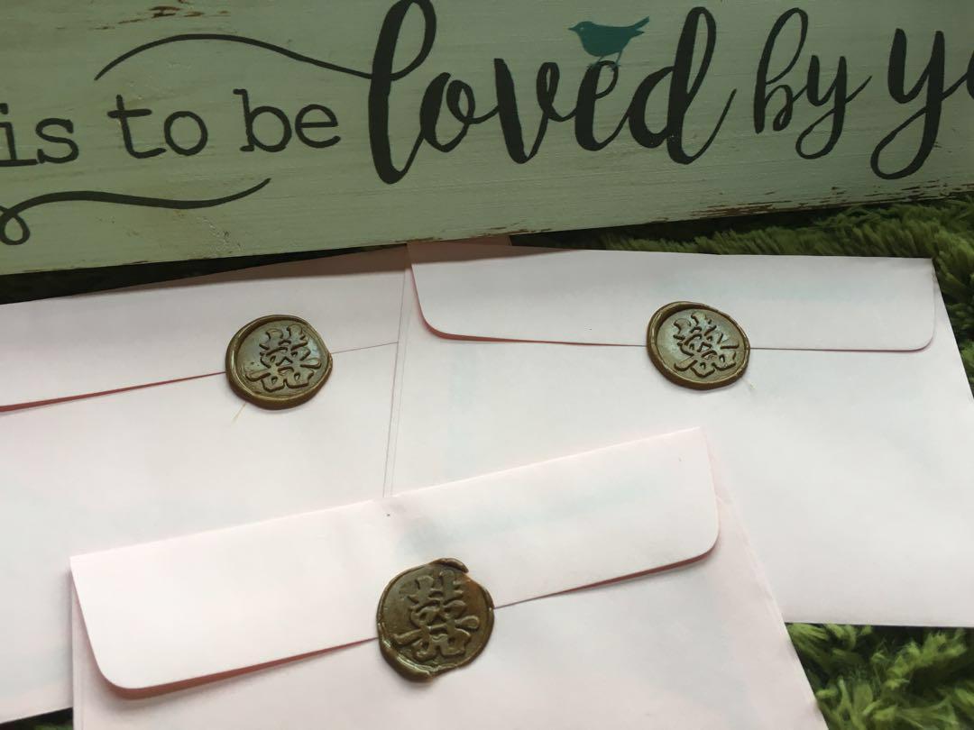 Wedding envelope wax seal rental & sealing service