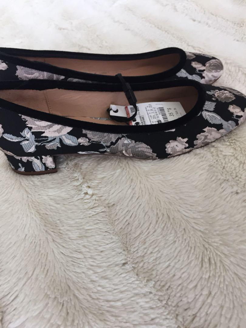 Zara Floral Ballet Shoes