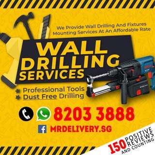 Wall Drilling Services Handyman