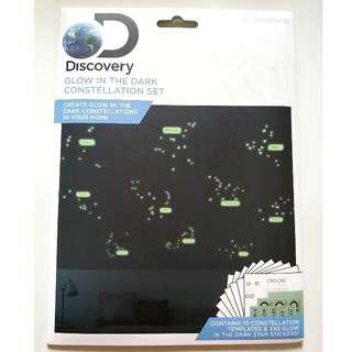 New Discovery Glow In The Dark Constellation Decals Stickers Set 1 Pack 全新夜光裝飾貼 UK Design Home Decals