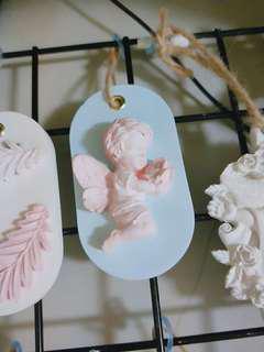 婚禮小物💒節日必備💝擴香石-送花天使+2ML精油