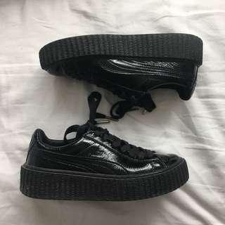 FENTY black leather creepers
