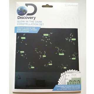 New Discovery Glow In The Dark Constellation Decals Stickers Set 1 Pack 全新夜光裝飾貼 UK Design Home Decoration Decals