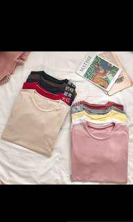 Ulzzang Casual Plain Top