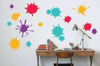IKEA Slatthult Wall Stickers (Paint Splatter Design)