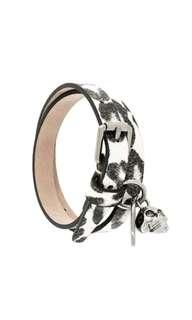 Alexander McQueen Snow Leopard Printed Wrap Bracelet
