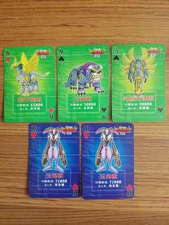 數碼暴龍 出前一丁 遊戲卡 每張$5
