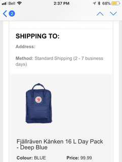 BNWT Authentic Fjallraven Kanken Backpack