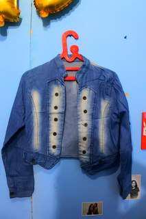 Jaket jeans denim biru