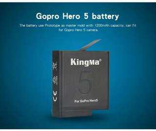 Baterai KingMa For GoPro Hero 5 Black dan GoPro Hero 6