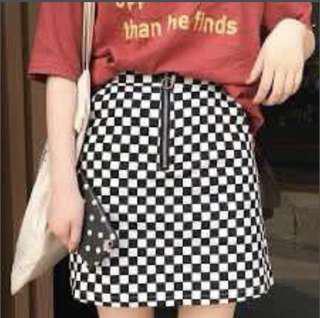 Ulzzang Checkerboard Skirt