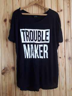 Graphic trouble maker black shirt