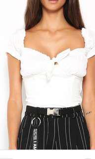 I.am.Gia Naomi Top White