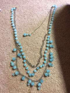Fake pearl necklaces