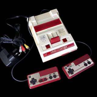 AV modded Famicom console