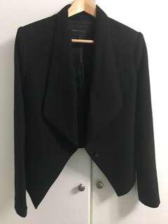 Modern BCBG Black Drape Blazer XS