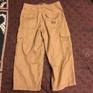 🚚 古著 SPRIT DE CORP 電繡LOGO 素面 舒適 口袋 上寬下窄 工作褲 休閒褲 八分褲