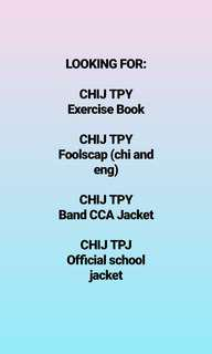 looking for chij tpy items
