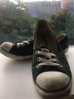 "CONVERSE Black No Shoelace ""Ballet Flats"""