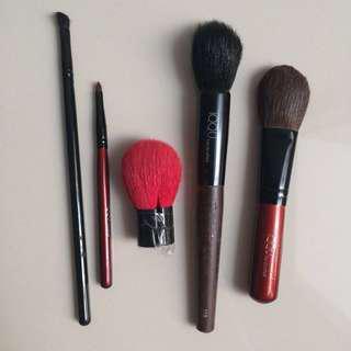 Make up brush 5 piece-set make-up tools preloved murah