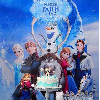 Customised Frozen Banner for Birthday party Backdrop for dessert table