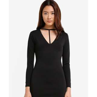Sexy Black Body Hugging Dress