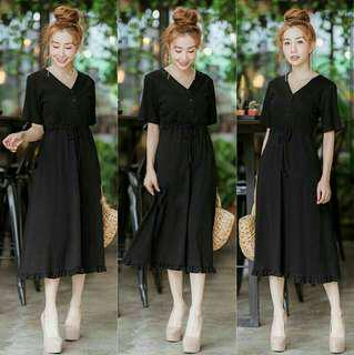 dress hitam LD 100