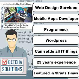 App Developer, Programmer, Web Design Services, Web Developer, PHP, Mobile Apps, Website, Wordpress