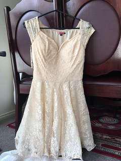Beautiful cream formal dress