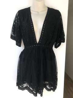 Embroidered Lace Playsuit S/M/L