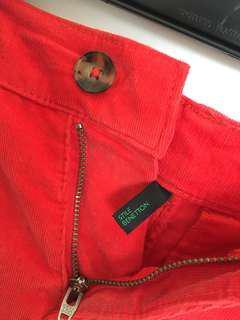 Benetton Dark orange/Red Shorts (S/M)