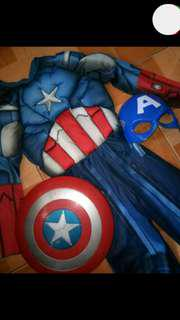 Auth Capt America Costume with accessories