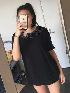 Black Tshirt Dress (S/M)