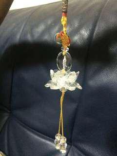 🚚 蓮花水晶吊飾