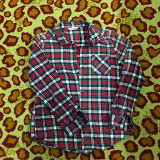 Red plaid flannel (INC POST)