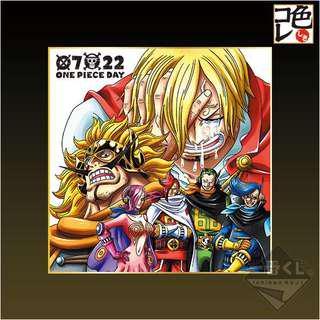 一番賞 ONE PIECE 海賊王 0722 One Piece Day G賞 色紙 山治 香吉士 家族