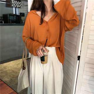 V neck long sleeves top