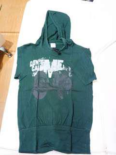 Green Hoodie t shirt kaos