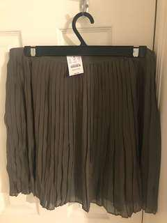 Jcrew grey pleated skirt, new with tags